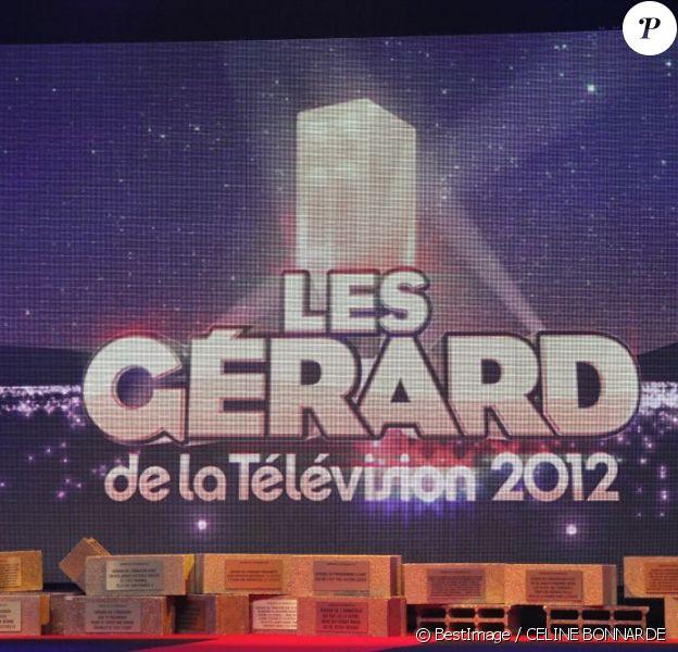 Les Gérard de la télévision animés par ses créateurs Frédéric Royer, Arnaud Demanche et Stéphane Rose au Théâtre Bobino à Paris, le 17 décembre 2012