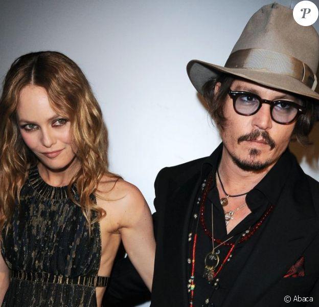 Johnny Depp et Vanessa Paradis à Cannes le 18 mai 2010.