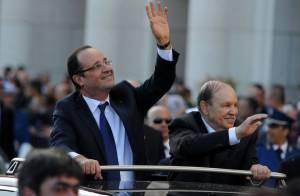 François Hollande et Valérie Trierweiler : Bain de foule dans les rues d'Alger