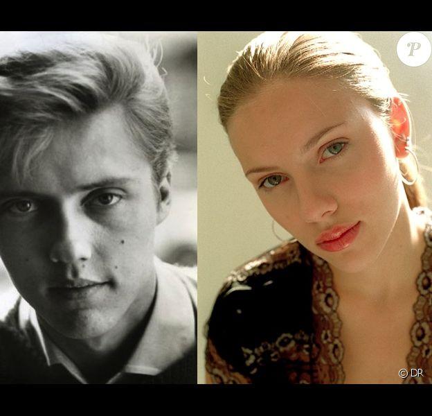 Christopher Walken jeune face à Scarlett Johansson (photo prise en 2002 pour l'actrice américaine). Une ressemblance frappante !