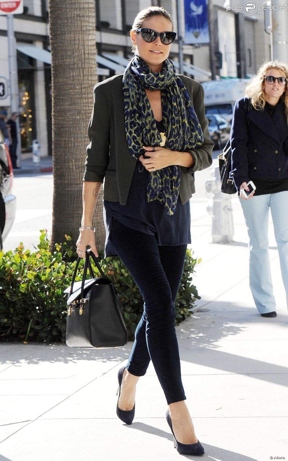 1e600a67e3ce Heidi Klum est toujours aussi stylée. Elle était le 2 janvier à Los Angeles.