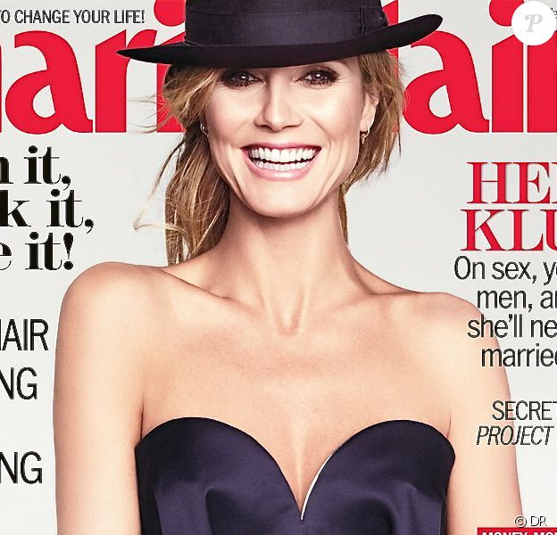 Heidi Klum photographiée par TESH dans les studios Milk à New York, figure en couverture du magazine Marie Claire de février 2013.