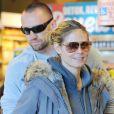 Heidi Klum et Martin Kirsten font leurs courses dans le quartier de Brentwood. Los Angeles, le 6 janvier 2013.