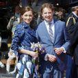 La princesse Aimée et le prince Floris d'Orange-Nassau lors de la Fête de la reine le 30 avril 2012. En 2013, le couple attend son troisième enfant, pour le mois de juillet.