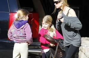 Denise Richards : Après-midi équitation pour ses filles Lola et Sam
