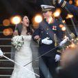 """Mariage de la patineuse Michelle Kwan et Clay Pell à l'eglise """"First Unitarian"""" à Providence dans l'état du Rhode Island, le 19 janvier 2013."""