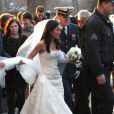 """Mariage de Michelle Kwan et Clay Pell à l'eglise """"First Unitarian"""" à Providence dans l'état du Rhode Island, le 19 janvier 2013."""