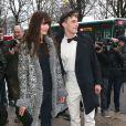 Caroline de Maigret à son arrivée au défilé Chanel le 22 janvier 2013