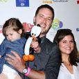 Tiffani Thiessen, son mari Brady Smith aet leur fille Harper Smith à Los Angeles, en août 2012