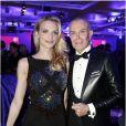 Sarah Marshall et Jean-Claude Jitrois assistent au 11e Dîner de la Mode contre le Sida au Pavillon d'Armenonville. Paris, le 24 janvier 2013.