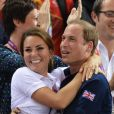 Kate Middleton et le prince William en liesse aux JO de Londres le 2 août 2012.