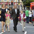 Le prince Phillipe et la princesse Mathilde de Belgique avec leurs enfants à Londres lors des JO 2012.