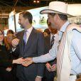 Felipe et Letizia d'Espagne inauguraient le 30 janvier 2013, jour du 45e anniversaire du prince, le Fitur, salon international annuel du tourisme de Madrid.