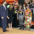 Le prince Felipe et la princesse Letizia d'Espagne inauguraient le 30 janvier 2013, jour du 45e anniversaire du prince, le Fitur, salon international annuel du tourisme de Madrid.