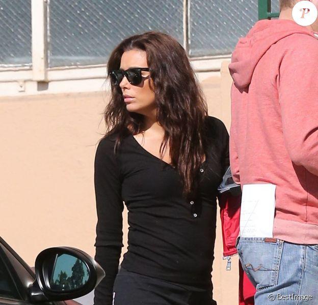 Eva Longoria dans les rues de Los Angeles, le 30 janvier 2013 après avoir passé la nuit avec son ex-petit ami Eduardo Cruz.