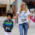 Heidi Klum et son fils Johan (6 ans) à Los Angeles, le 2 février 2013.
