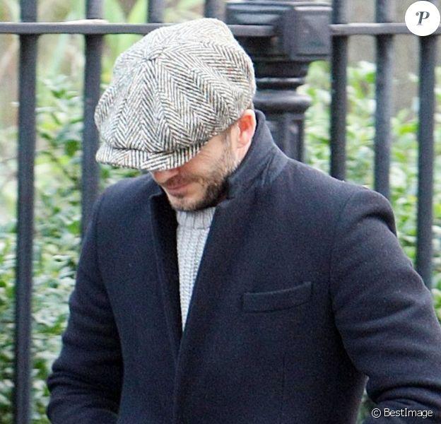 David Beckham, discret dans les rues de Londres le 4 février 2013