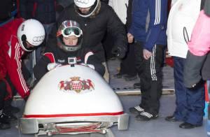 Albert de Monaco, tout heureux, retrouve les sensations du bob à Saint-Moritz