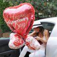 Brooke Burke prépare une belle Saint-Valentin pour son mari David Charvet, le 4 février 2013 à Malibu