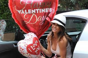 Brooke Burke : Saint-Valentin romantique mais kitsch pour David Charvet
