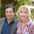 Christian Clavier et Marie-Anne Chazel lors du Festival de la Fiction à Saint-Tropez, le 21 septembre 2002.