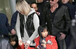 Johnny Hallyday, Laeticia et leurs fillettes : C'est le grand départ !