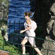 Jennifer Lopez et Marc Anthony en amoureux à Portofino. Sportive tout de même !