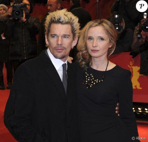 Ethan Hawke et la délicieuse Julie Delpy présentent Before Midnight à la 63e Berlinale, le 11 février 2013.