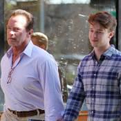 Arnold Schwarzenegger : Moment complice avec son fils Patrick sous le soleil