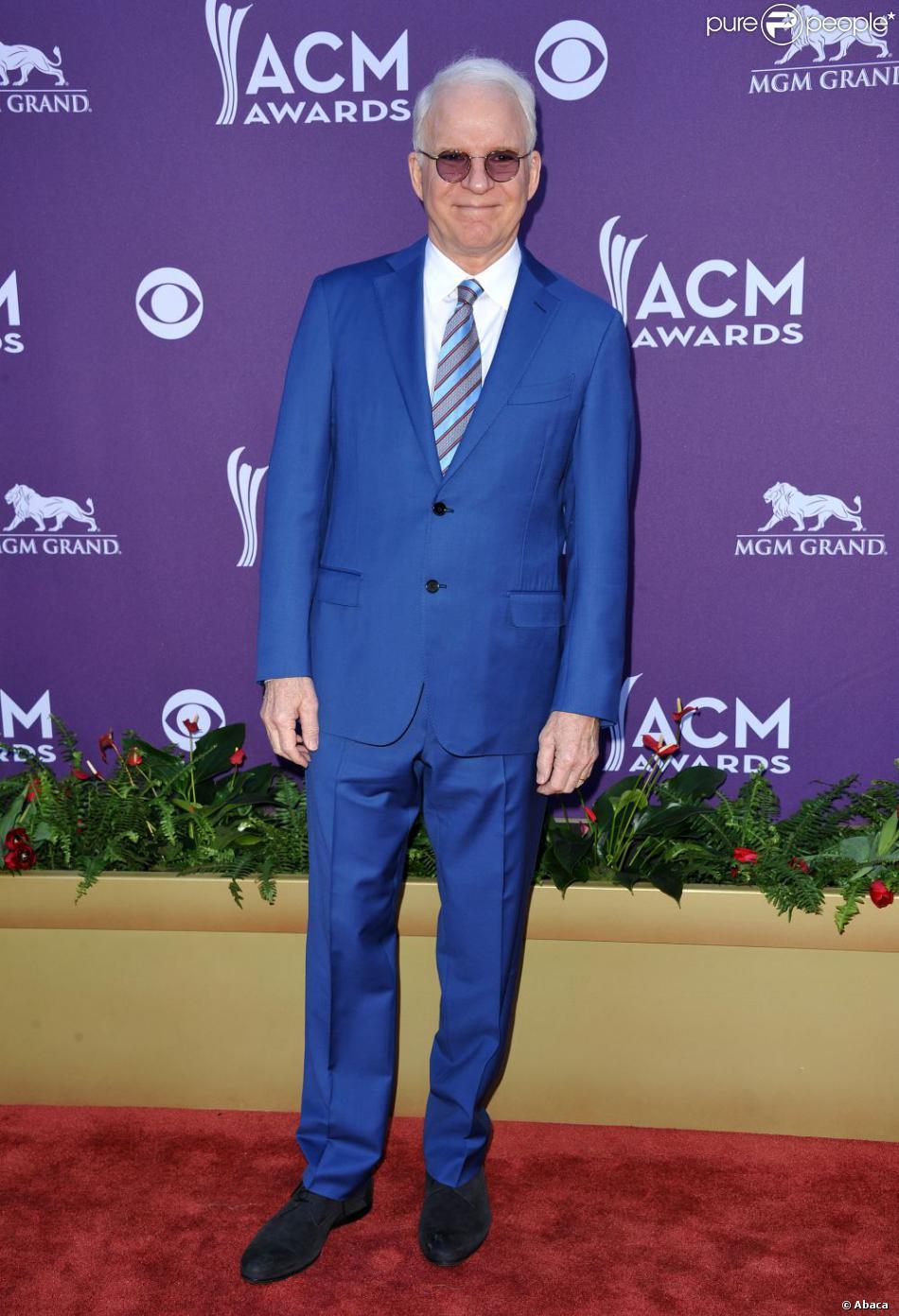 Steve Martin à la cérémonie de la 47e cérémonie des Country Music Awards à Las Vegas, Nevada, le 1er avril 2012.