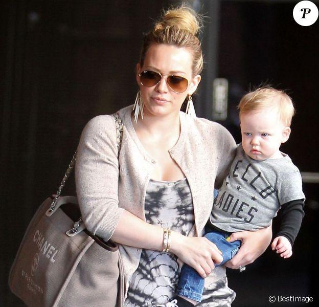 Hilary Duff emmène son fils Luca à l'atelier Babies First Class à Sherman Oaks, le 13 février 2013.