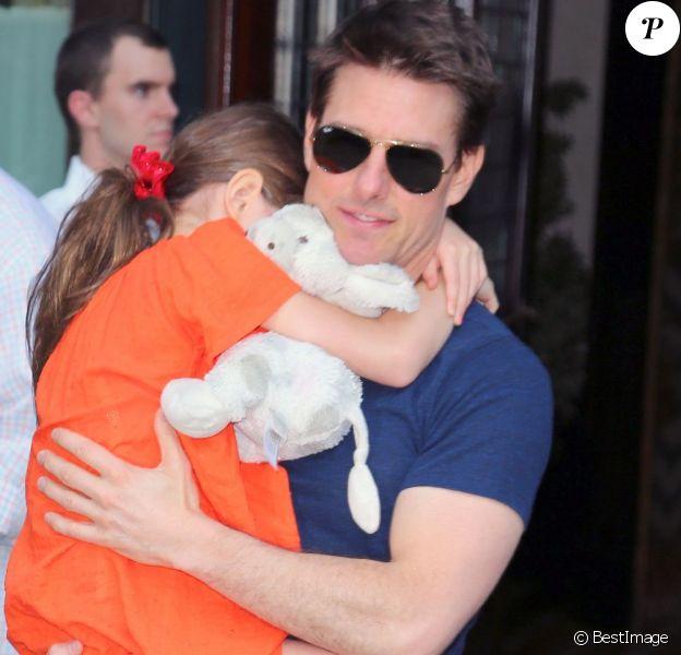 Tom Cruise et sa fille Suri à New York le 17 juillet 2012