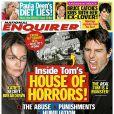 La couverture du magazine National Enquirer qui fait passer Tom Cruise pour un monstre