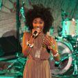 Exclusif - Inna Modja chante à la soirée de solidarité pour le Mali à l'Unesco à Paris, le 18 février 2013.