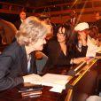 Exclusif - Irina Bokova (Directrice generale de l'Unesco), Yamina Benguigui (ministre deleguee en charge des Français de l'etranger et de la Francophonie)) - Soiree de solidarite pour le Mali a l'Unesco a Paris. Le 18 fevrier 201318/02/2013 - Paris