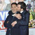 José Garcia et Michaël Youn lors de l'avant-première du film Vive la France à Paris le 19 février 2013.