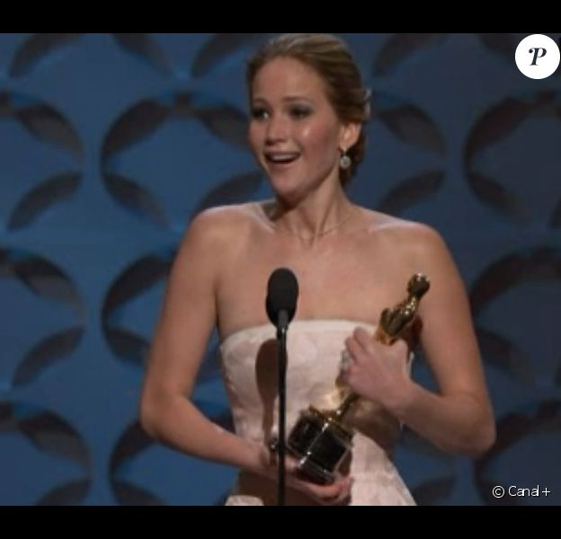 Jennifer Lawrence, meilleure actrice pour Happiness Therapy lors des Oscars 2013