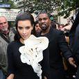 KIm Kardashian et Kanye West à La Fashion Week de Paris, le 3 juillet 2012.