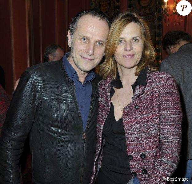 """Charles Berling et Virginie Couperie pour la 200e d'""""Inconnu à cette adresse"""" au Théâtre Antoine à Paris, le 25 février 2013."""