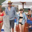 Jason Segel et Michelle Williams en vacances à Cancun au Mexique avec Busy Philipps enceinte le 2 janvier 2013
