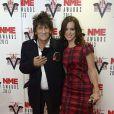 Ronnie Wood et son épouse Sally Humphries à la cérémonie des NME Awards organisée au Troxy à Londres, le 27 février 2013.