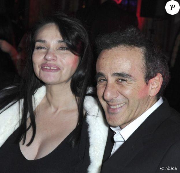 Elie Semoun et Béatrice Dalle lors d'une soirée donnée pour la Croix Rouge à l'hôtel Intercontinental à Paris le 2 mars 2013