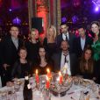Elie Semoun, Béatrice Dalle et leurs invités à la soirée en faveur de la Croix Rouge le 2 mars 2013 à Paris à l'hôtel Intercontinental