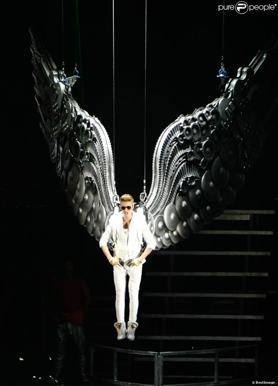 Justin Bieber en concert à Londres, le 4 mars 2013.