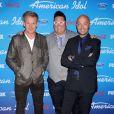 Gordon Ramsay, Graham Elliott et Joe Bastianich à la soirée des finalistes d'American Idol à The Grove à Los Angeles. Le 7 mars 2013.