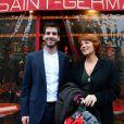 Véronique Genest aux côtés du journaliste franco-israélien Jonathan-Simon Sellem à Paris, le 7 mars 2013