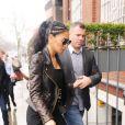 Nicole Scherzinger arrivant en studio d'enregistrement à Londres, le 7 mars 2013.