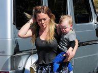 Hilary Duff : Toujours lookée, elle emmène son petit Lucas à un anniversaire