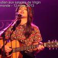 Un concert de soutien en faveur des Gilets Rouges, les salariés de Virgin dont l'avenir est à ce jour très incertain, a été donné au Divan Du Monde à Paris, le 12 mars 2013.