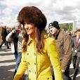 La belle Pippa Middleton a assisté à une course de chevaux à l'hippodrome de Cheltenham, dans le cadre du Cheltenham Festival de Gloucestershire. Le 14 mars 2013.